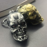 Più nuovo The Terminator Skull Head Shape Model Lega portachiavi Portachiavi per fan Skeleton Skull Cool Key Ring Chian Hloder