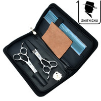 6,0 Zoll Smith Chu Linkshänder Professionelle Haarschere Schneiden Effilierschere Salon Razor Friseur Barber Set mit Fall, LZS0071