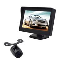 Système de vue arrière de voiture de caméra de Rearview automatique PZ601 PZ601C 3,5 pouces 4,3 pouces caméra de panneau numérique 2 Way Vidéo dans ePacket