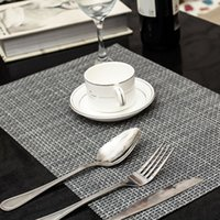 4 Pcs lot weave Placemat fashion pvc dining table mat disc p...