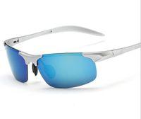 [8177] Óculos de sol Óculos ao ar livre, alumínio e óculos de sol de polarização de magnésio ciclismo