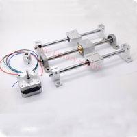 Freeshipping 3D Drucker Führungsschiene setzt T8 Gewindespindel Länge 200mm + lineare Welle 8 * 200mm + KP08 SK8 SC8UU + Mutter Gehäuse + Kupplung + Schrittmotor