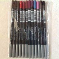 24 pcs / set delineador lápis de olho de olho 12 diff cor preta marrom delineador maquiagem !!!