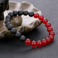 European women and men' s natural stone beaded bracelets...