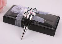cadeau de faveur de mariage et cadeaux pour homme invité - bouchon de bouteille de vin XO 100 PCS / LOT souvenir de fête de douche nuptiale Faveurs