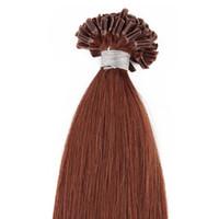 Extensions de cheveux en U droites avec extension en pointe droite Extensions de pointe en U humaines 50 g Extensions de cheveux pré-collées 100 brins Extensions de cheveux pré-collées