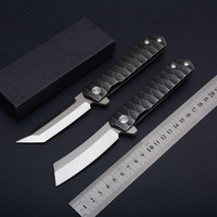 high- end C81 Folding Knife D2 steel blade, 58- 60HRC black gif...