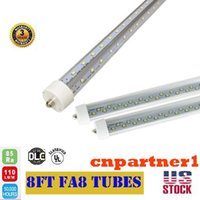 2017 T8 LED Tubes FA8 single pin 8ft 2. 4m V Shape Double Glo...