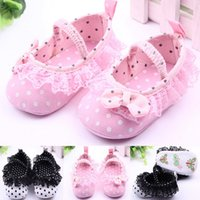 Fashion Bowknot Baby Girl Lace Shoes Anti- Slip Toddler First...