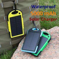 50 ADET Evrensel 5000 mAh Güneş Şarj Su Geçirmez Güneş Paneli Akıllı Telefon PED Tabletler için Kamera Cep Şarj Pil Şarj Çift USB