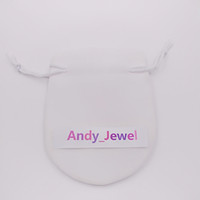 흰색 리본 벨벳 가방 맞는 유럽 판도라 스타일 비즈 매력과 팔찌 목걸이 쥬얼리 패션 펜던트 파우치