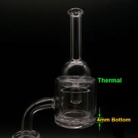 4 mm 하단 XXL 석 영 열 Banger 손톱 10 mm 14mm 18 mm 더블 튜브 석 영 열 조작 P Banger Oil Rigs Glass Bongs