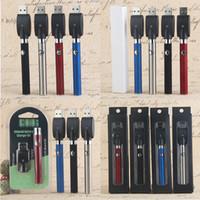 Préchauffage Batterie de stylo de Vape Batterie Evod Box Blister 350mAh Tension variable avec chargeur Chine pour atomiseur de vaporisateur à huile de cire