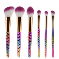 6 pcs colorful Make up Brushes Make up Tools Powder Blush Ey...