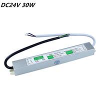 DC 24 V 30 W LED Adaptador de Alimentação AC110V-260V IP67 À Prova D 'Água Eletrônica LEVOU Motorista Transformador para Tiras de Luz LED