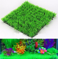 Eco- Friendly Aquarium Ornaments Artificial Water Green Grass...