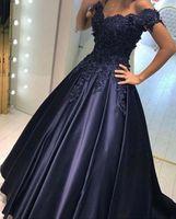 2017 V-образным вырезом Темно-синее длинное вечернее платье кружева из бисера старинные выпускные платья Vestido de Festa с плеча дешевые вечерние платья