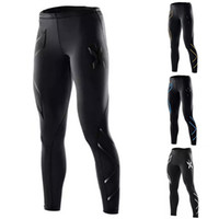 Wholesale- Men Compression Fitness Tights Male Pants Superela...