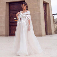 2019 Modest Saudi Arabic Wedding Dresses Scoop Off Shoulder ...