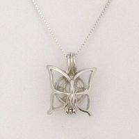 Può aprire tenere perle gemme perline ciondolo gabbia stile farfalla pendenti di fascino per gioielli braccialetto collana fai da te