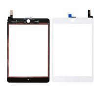 30PCS 100% Новый сенсорный экран Стеклянная панель с Digitizer Замена для IPad Mini 4 Черное и белое свободной DHL