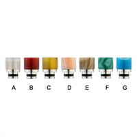 Agate Stone Drip Tip 510 Mouthpieces Colourful Jade Stianles...