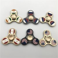 America Flag Fidget Spinner Toy Alloy USA India Russia Canad...