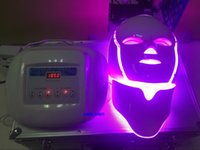 3D 진동 마사지 페이셜 마스크 3 컬러 빛 광자 LED 전기 얼굴 마스크 PDT 피부 젊 어 짐 테라피 안티 에이징 여드름 정리 장치