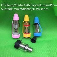 Ecig Universal Silikon Hygienekappe Antiskid Ringe Vape Band für Cleito120Cleito Subtank Nmini Atlantis etc Vape Mundstück Tropfspitze Kappe