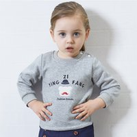 2017 Autumn New Boys Girls Baby Cartoon Printed Long Sleeve ...