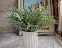 Planta verde artificial Flores folhas Samambaia folha folha de prata crisântemo fragrância artificial bonsai planta parede