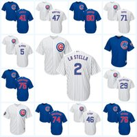 2017 Chicago Cubs Jersey 51 Jack Leathersich 38 Mike Montgomery 40 Willson Contreras 41 John Lackey 43 Jake Buchanan Jeu de baseball pour jeunes