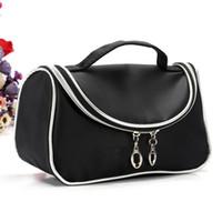 Le borse cosmetiche compongono la custodia per matita con cerniera in tela Retro Beauty Wash Case