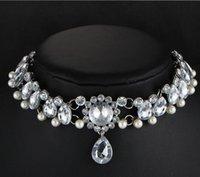 Mode Frauen Halsbänder Halsketten Geschenke Shining Crystal Hearts Form Choker Halskette Bib Kragen Hochzeit Schmuck hz