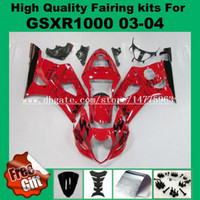Injectie Verklei voor Suzuki GSXR1000 2003 2004 GSX-R1000 03 04 Fairing Kit GSXR 1000 2003 2004 K3 K4 Zwart Rood 100% Fit ABS # 227Z-1