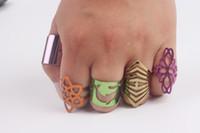 Яркий цвет кольца регулируемые кольца Toe кольцо Mix много унисекс посеребренные цинковый сплав кольца Оптовая продажа ювелирных изделий бесплатная доставка