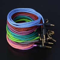Braided Audio Auxiliary Cable 1m 3. 5mm Wave AUX Extension Ma...