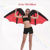 Dia das bruxas adulto crianças cosplay asas de arco-íris inflável traje Onesie Bar Stage desgaste Da Escola Do Partido asas de morcego inflável Mascote roupas traje