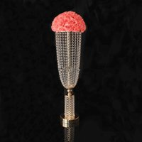 Acryl Pillar Candle Holders Set mit Acrylic Kristall Dimond Dekoration für die Hochzeit
