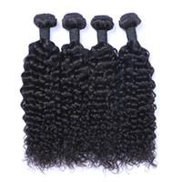 브라질 인간 머리카락 내츄럴 컬러 제리 컬리 페루 말레이시아 인디언 헤어 익스텐션 9A Quality Human Hair Weave 제리 컬리 번들