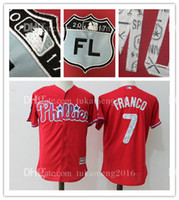 7 Maikel Franco Philadelphia Phillies Maillots de baseball Broderie Logos Hommes Majestic Royal 2017 Spring Training Cool Base Player Jersey