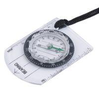 Lager MINI Baseplate Kompass Map Scale Lineal Outdoor Camping Wandern Radfahren Scouts Militärkompass