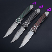 New Arrival Damascus Auto Tactical Folding Knife Damascus St...