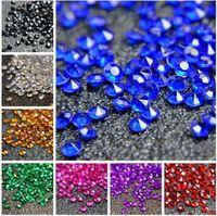1000 unids = 1 Unidades 1C (6mm) blanco Faux acrílico diamante confeti de la boda favor dispersión de la tabla Decoración favor de la boda suministros