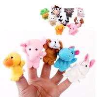 Juego de 10 piezas de dedo Conjunto de marionetas de animales Juguete de los niños Aprender Jugar Story Regalos del día de los niños Baby Finger Puppet