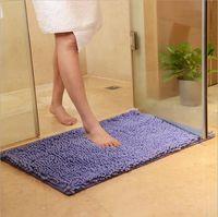 10 couleurs Tapis de bain pas cher pour la cuisine Toliet Super Soft Non-Slip de bain Tapis Absorbant 38 * 58cm Tapis de bain Chambre Tapis rectangulaire Tapis