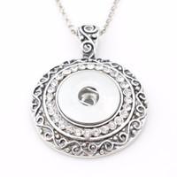 Nuova collana pulsante a scatto, pendente a scatto per scatto da 18 mm (con catena gratuita di 50 cm) ND5200