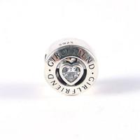 Charmes de novia Charmes S925 Sterling Silver Fits para brazalete de estilo de bricolaje 792145cz H8