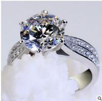 Fashion Platinum Plating MS Roundness Love Diamond Ring Micro Diamond Ring con anello di diamante alto carbonio