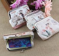 새로운 한국어 패션 레이디 코인 지갑 하스 만화 도시 레이디 캐릭터 가방 PU 여성 꽃 미니 지갑